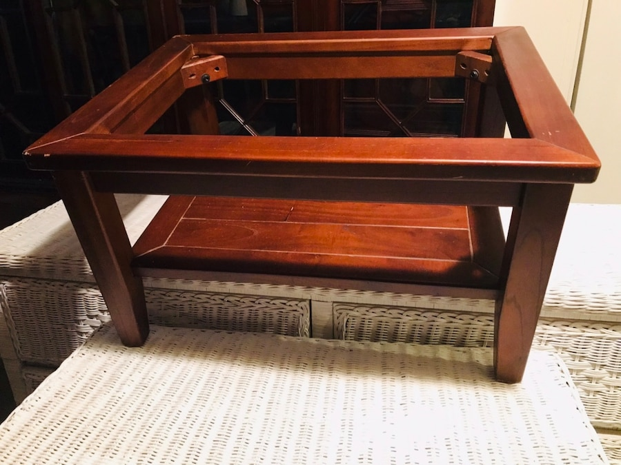 Solid Two Tiered Coffee Table !