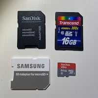 MicroSD adaptors, MicroSD and SD cards bundle River Edge, 07661