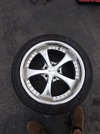 SPIN 5 SPOKE RIMS! Amazing tires! Open to trades Ontario, L3Z 3A1