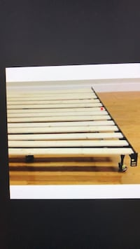 Full or Queen Wood Slat Frame Bed, will Deliver ! Annandale