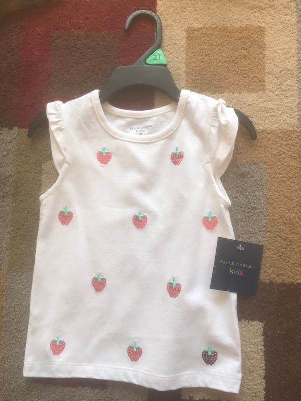 ec5cfe3ce793 Used NEW with tags size 2T strawberry tank tee baby toddler girls clothes  for sale in Saginaw - letgo