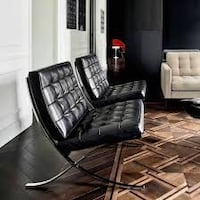 Real leather and solid polished stainless steel frame barcelona chairs like new....350 each Victoria, V8N 3G3