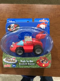 Toddler's blue and red plastic toy car