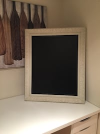 Chalk board with ceramic frame  Vaughan, L4H 2G3
