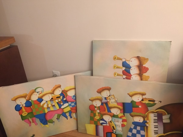 3 Fun and colorful musical paintings