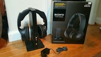 black and gray wireless headphones with box North Bethesda, 20852