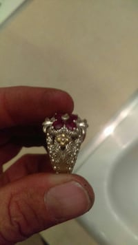 silver and ruby ring Wasco, 93280