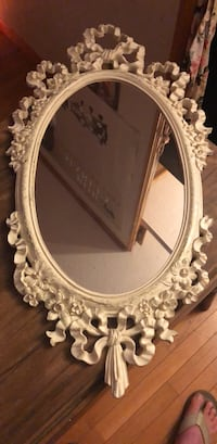 vintage mirror White Post, 22663