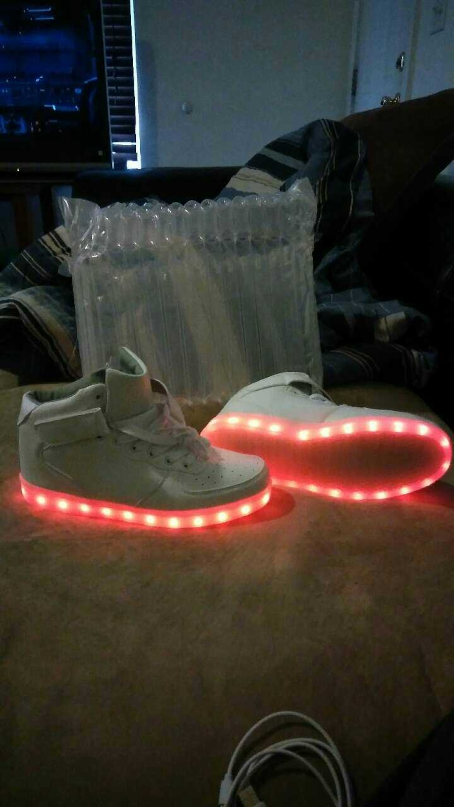 Rechargeable light up shoes. Brand new. - West Valley