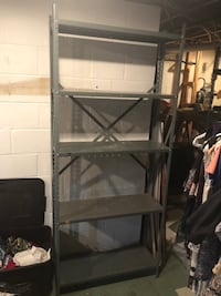 Black metal framed glass top tv stand Silver Spring