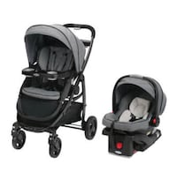 Graco modes click connect travel system in Grey.  Minor wear. Including an additional base for car seat since bought an extra one. Glendale, 91206
