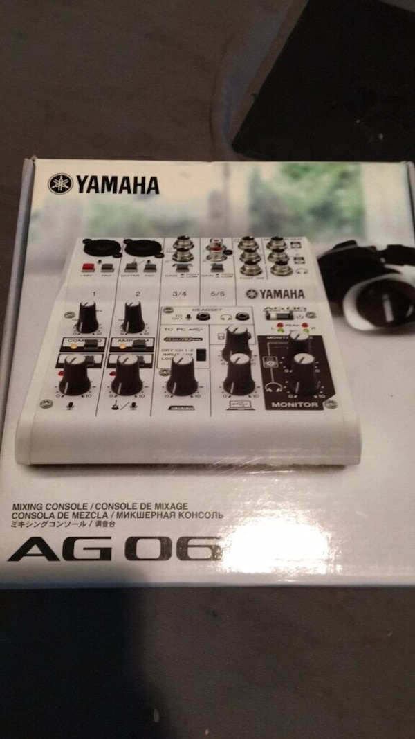 Yamaha AG06 6-Channel Mixer / 2 Microphone (FREE SHIPPING)