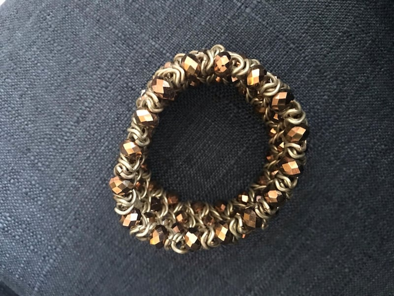Designer bracelet with AB crystals. Lots of bling! 57420414-6079-43a8-8aa2-b295fdc74358