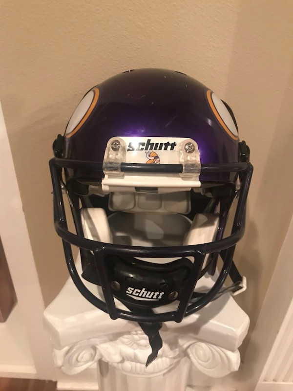 Purple Vikings Football Helmet- Size Medium