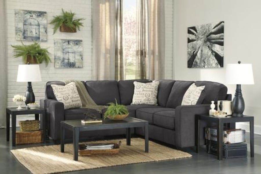 New Ashley Alenya Charcoal LAF Sectional cf4fd1c2-c4f6-4a5e-9682-7a28bd79639d