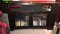 Wood and Glass Media Cabinet