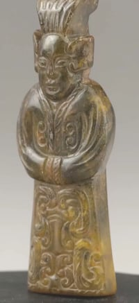 Handcarved Jade statue old ancient man Chicago, 60640