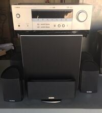 Speaker with Subwoofer(Polk) and Receiver(Yahmaha)