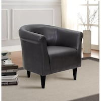 Mainstays Faux Leather Bucket Accent Chair, Carbon, SKU # 55059, 55060 2263 mi