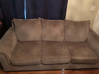 brown suede 3-seat sofa Lincoln, 68503