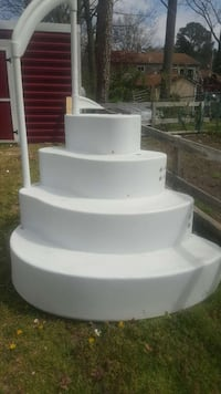 above ground pool wedding cake steps used wedding cake pool steps for in new jersey letgo 10529