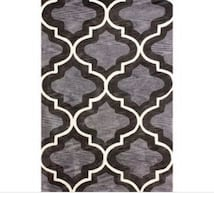 Zedai 5'x8' Gray Printed Accent Rug