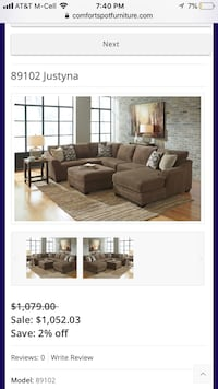 Justyna Sectional- Español  Mesquite