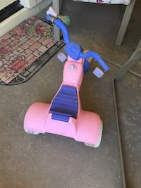 toddler's pink and blue trike CHANDLER