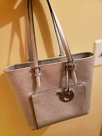 gray Michael Kors leather tote bag Sterling, 20165