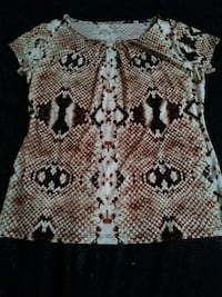 white and brown floral textile Oklahoma City, 73149