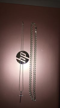 Sterling Silver chain n necklace  Brooklyn, 21225