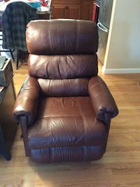 brown leather glider chair