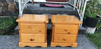 two brown wooden 2-drawer nightstands Burnaby, V3N 1L6