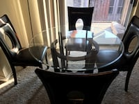 Ashley dining table with chairs