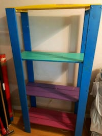 Colorful wood shelf $20 takes Edmonton, T5H 4E6