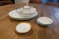 Assorted gold and silver trim dinnerware  Dumfries, 22026