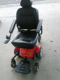 red and black motorized wheelchair Modesto, 95351