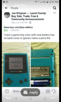 Blu gameboy color Corbin