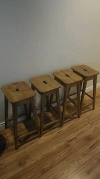 4 Wooden Bar Stools Oakville, L6K 1C5