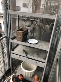 Grey Outdoor Shelving / Plant Shelf  London, E8 4DS