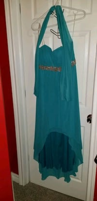 Strapless formal dress with shawl