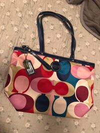 monogrammed red, blue, brown, and pink Coach tote bag Southaven, 38671
