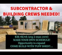 BUILDERS & SubContractors WANTED - NH,ME & MA!