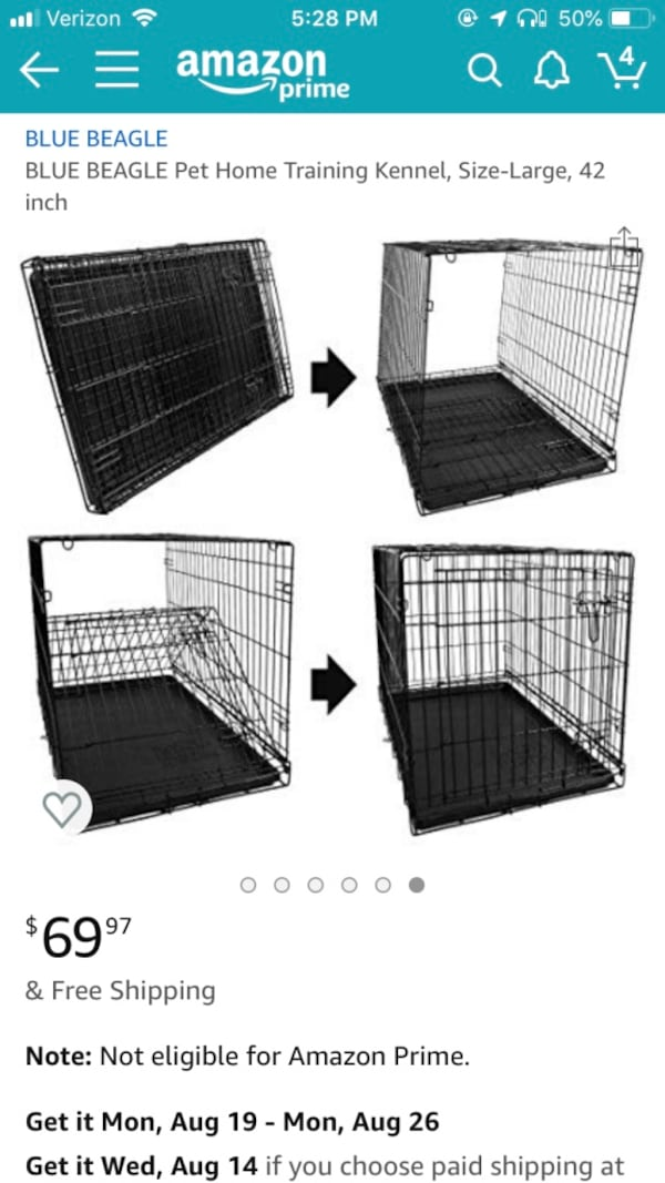 Collapsible Pet Kennel 42 inches 5464ddca-2173-43bb-9fa9-14d3cd52f348