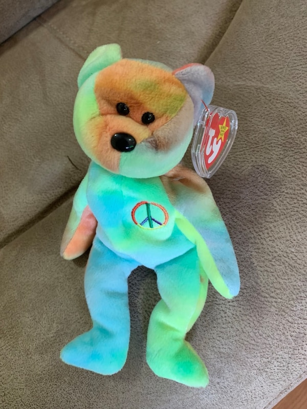 Used Peace Ty beanie baby for sale in Jersey City - letgo e31228ec84e3