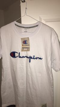 Size Large and blue crew champion T-shirt  Barrie, L4M 2V5