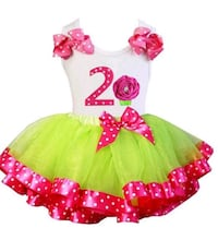 girl's green and pink tutu dress Toronto, M9V 4A9