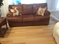 brown leather 3-seat sofabed Miami, 33173