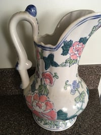 white, pink, and green floral ceramic pitcher Springfield, 22153