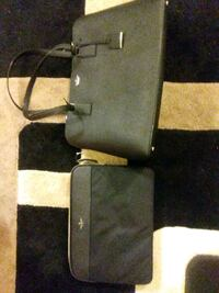 black and gray leather crossbody bag Washington, 20003
